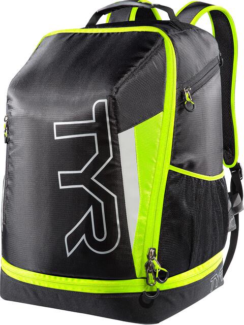 TYR Triathlon Backpack Black/Flou Yellow